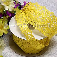 Ажурная лента, 2 см, желтая