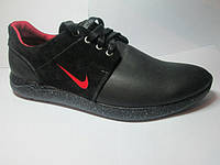 Туфли кожаные спортивные для мужчин