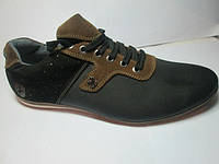 Кожаные спортивные мужские туфли