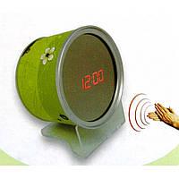 Зеркальные LED часы с будильником и термометром