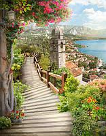 Обои фреска на стену Деревянный мост