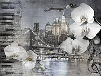Обои фреска в спальню Бруклинский мост