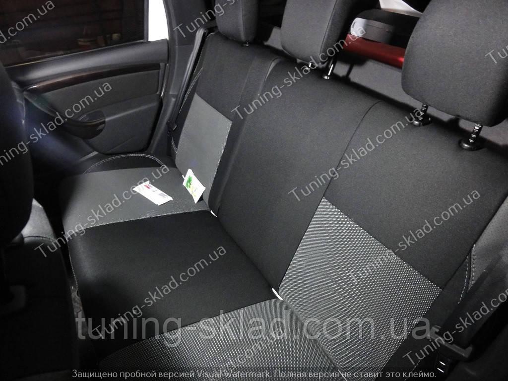 Чехлы на сиденья Рено Дастер (чехлы из экокожи Renault Duster стиль Premium)
