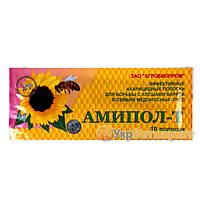 Амипол - Т акарицидные полоски для лечения и профилактики варроатоза пчел, 10 полосок, Агробиопром