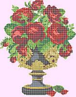 Розы в чаше КМР 2028