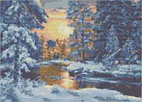 В зимнем лесу (круговая) КМР 3233