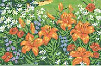 Лилии и полевые цветы КМР 3241