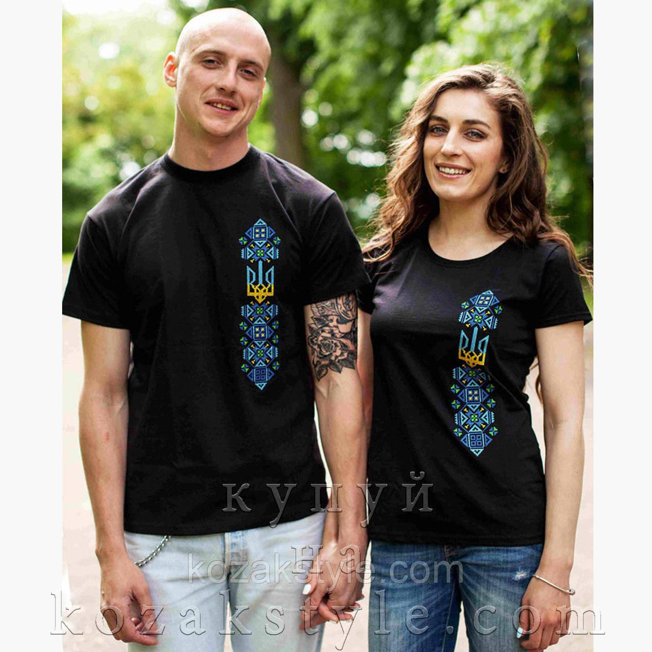 Пара чорних футболок з вишивкою