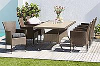 Комплект мебели (стол и 4 кресла) для сада Roka из искусственного ротанга