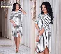 Женское штапельное платье в полоску № р  2876 гл
