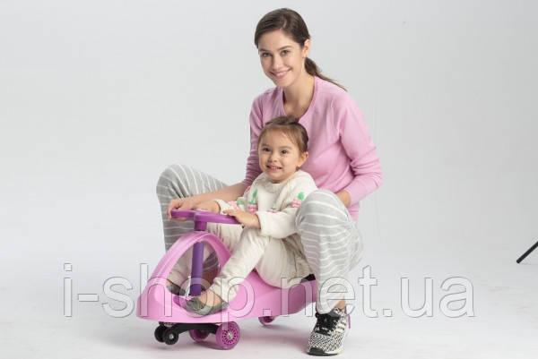 Детская машинка с полиуретановыми колесами Kidigo Smart Car New (розовый, салатовый, оранжевый, синий), фото 2