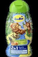 Шампунь - гель SauBаr 2in1  - с ароматом тропических фруктов