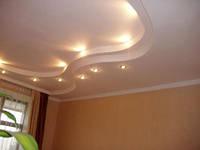 Устройство подвесного потолка из гипсокартона с подсветкой