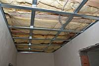 Звукоизоляция подвесного потолка из гипсокартона