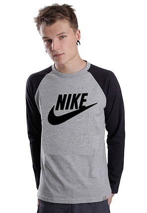 Мужской Свитшот Nike c черным рукавом, фото 2