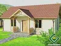 Строительство дома из сип панелей 53,88 м.кв., «КОЛИБРИ»
