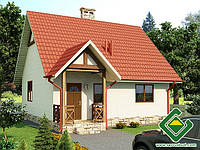 Строительство дома из сип панелей 65,12 м.кв. «ЛИСА»