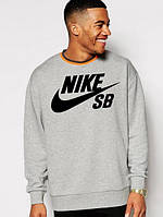"""Мужской Свитшот """"Nike SB"""" серый"""