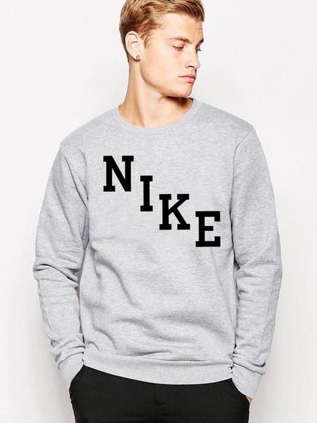 Мужской Свитшот Nike (черный принт)