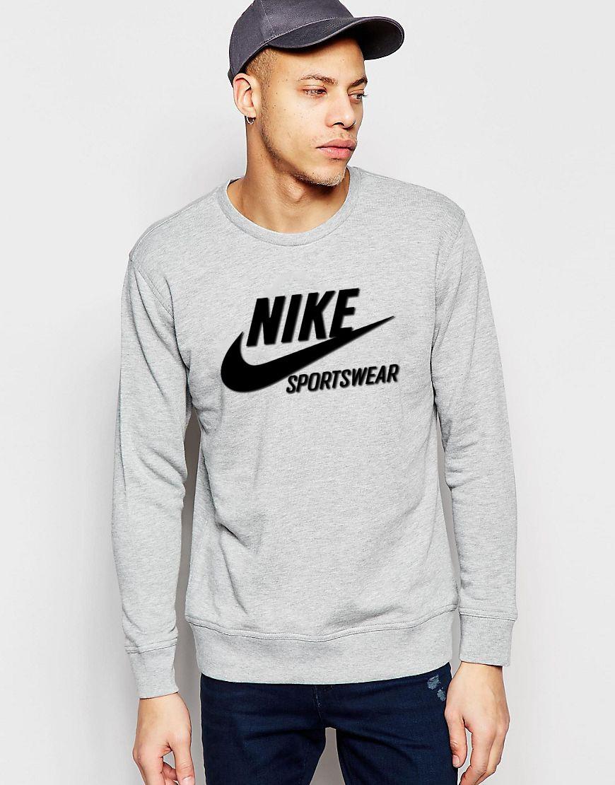"Мужской Свитшот ""Nike sportswear"" серый"