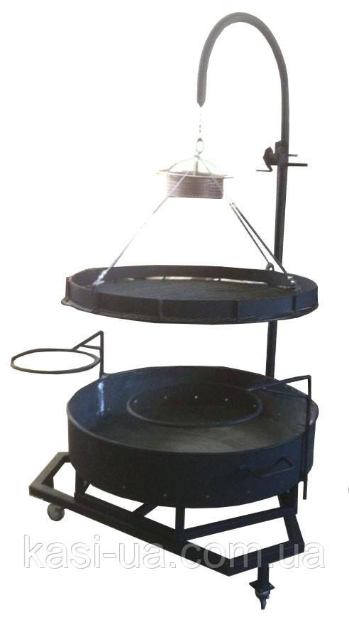 Мангал круглый с подъемным механизмом (барбекю гриль)