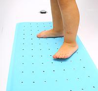 Противоскользящий коврик для ванной голубой