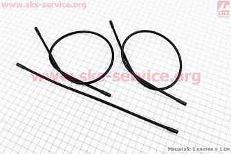 Рубашка троса переключения черная (4х520мм 2шт) и (4х280мм 1 шт) с колпачками, к-кт 3 шт.