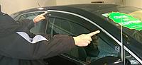 Дефлектор окон Toyota Venza 2009 С Хром Молдингом