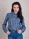 Джинсовая женская рубашка с узором
