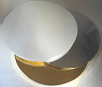 Подложка усиленная под торт серебряная D 40cm, h 2cm (код 04826)
