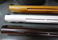 КОМПЛЕКТ Припливне віконний клапан ЕНА 2 темно-коричневий (твк) з акустичним козирком, фото 1