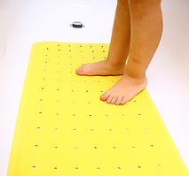 Противоскользящий коврик для ванной желтый