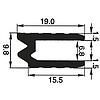 """Профіль 0300. Гібрид або """"замковий"""". Для панелей 6,8 мм"""