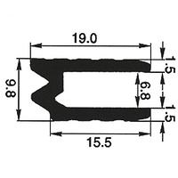 """Профиль 0300. Гибрид или """"замочный"""". Для панелей 6,8 мм."""