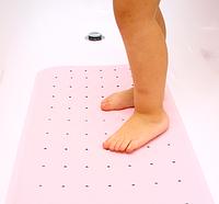 Противоскользящий коврик для ванной розовый, фото 1