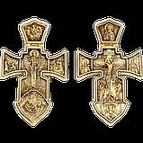 Крест серебряный Распятие. Ангел Хранитель 002, фото 8