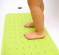Противоскользящий коврик для ванной салатовый