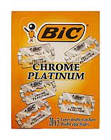 Двухсторонние лезвия для бритья BIC Chorome Platinum - 5 шт.
