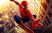 Вафельная картинка для тортов Человек паук круглая 20Х30