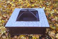 Костровой стол (уличный очаг, садовый камин мангал) квадратный