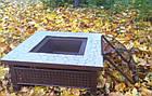Костровой стол (уличный очаг, садовый камин мангал) квадратный, фото 2