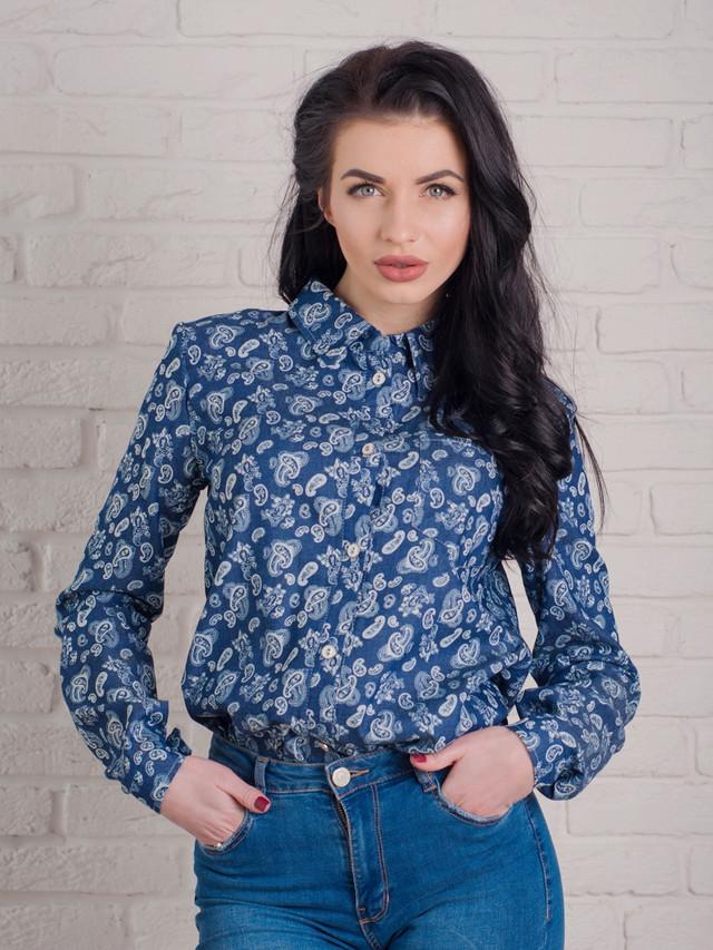 стильная джинсовая рубашка, женская джинсовая рубашка