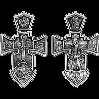 Крест серебряный Распятие. Ангел Хранитель 002, фото 1