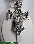 Крест серебряный Распятие. Ангел Хранитель 002, фото 3