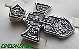 Крест серебряный Распятие. Ангел Хранитель 002, фото 4
