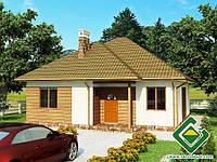 Строительство дома из сип панелей 95,16 м.кв., «ГРИН»