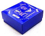 Ремень мужской кожаный синего цвета, фото 4