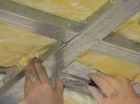 Изоляция потолков минеральной ватой