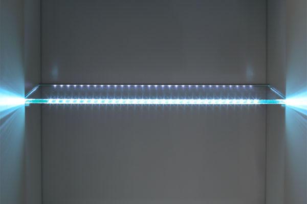 Подсветка для стеклянных полок
