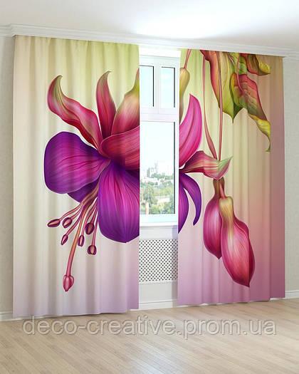 Фотошторы цветок фиолетовый